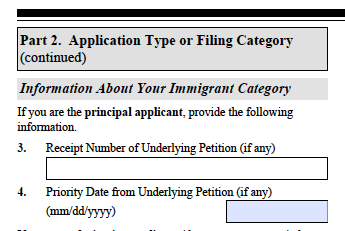 I-485 -- Receipt Number of Underlying Petition ??? - Adjustment of