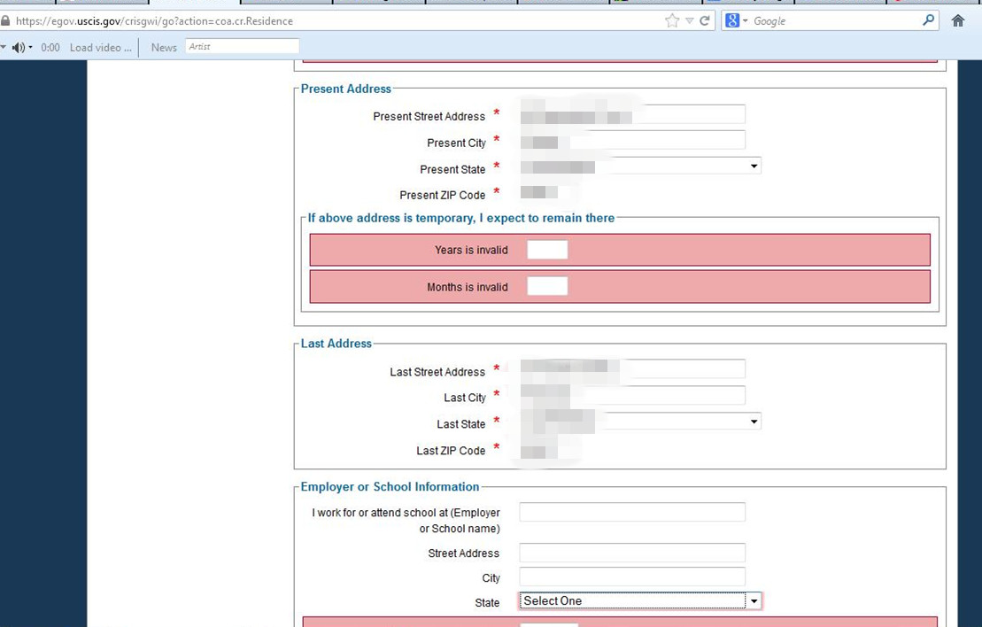 The Online Form Is Weird For Ar 11 Change Of Address General