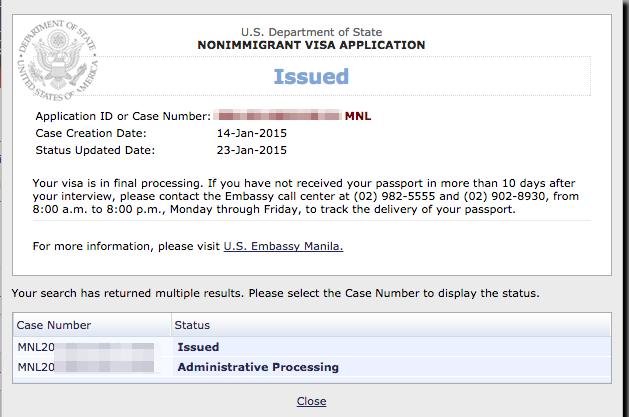 Administrative processing visa journey