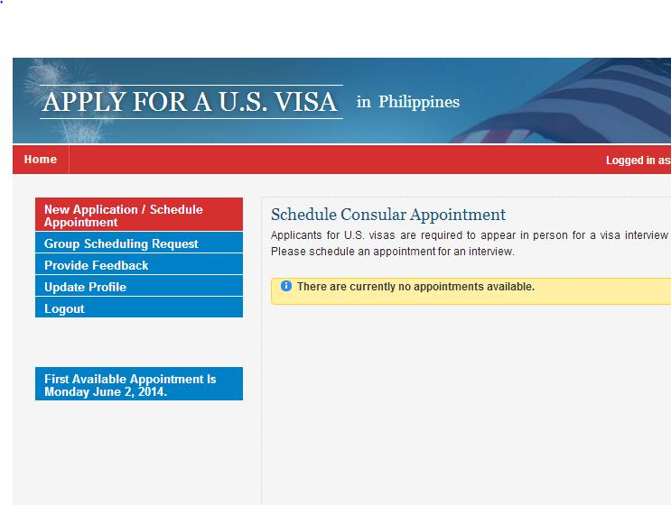 How many slots are available each day for US Visa Interview (Manila