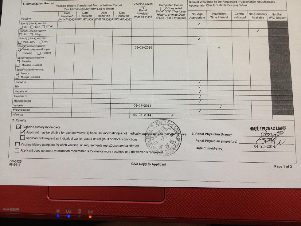 Help Do I Need A I 693 Form Adjustment Of Status Green Card