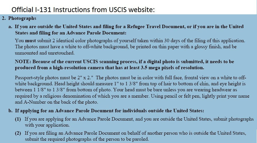 Urgent Are Photographs Needed For Re Entry Permit Application
