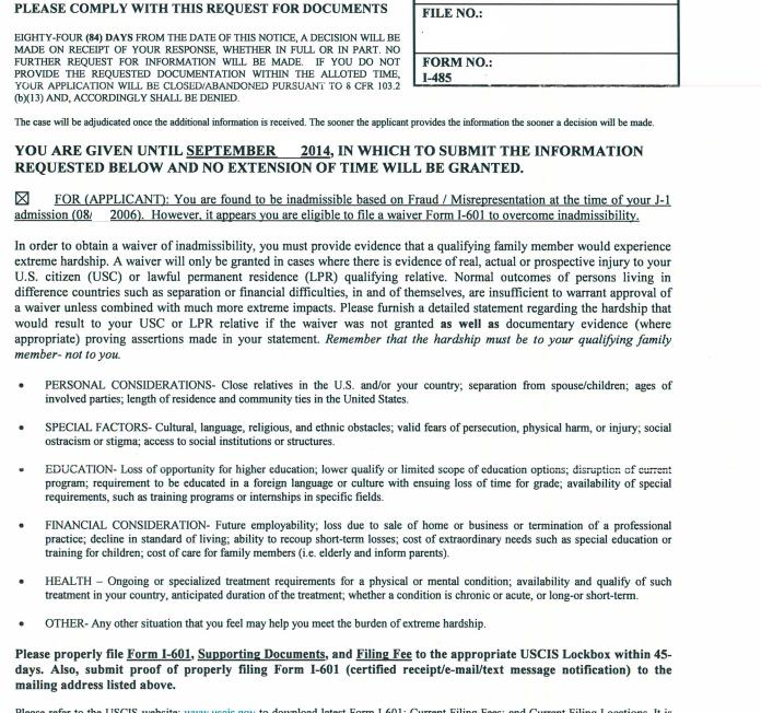 Approved VAWA, I-485 Pending, IO allegation of Fraud