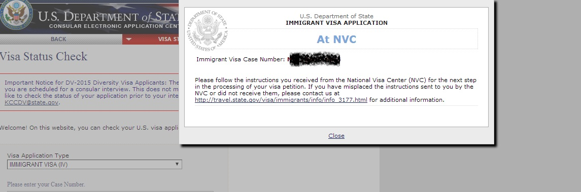 Nvc begin visa processing