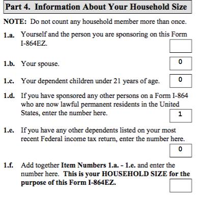 Affidavit Of Support Form I 864ez Questions Ir 1 Cr 1 Spouse