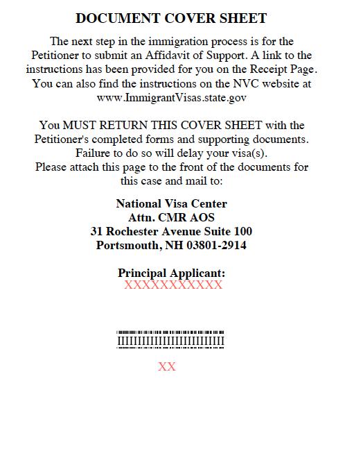 NVC_Document Cover Sheet_AOS / IV - IR-1 / CR-1 Spouse Visa ...