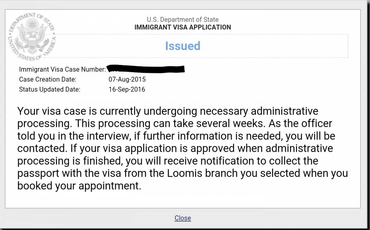 Administrative Processing Us Visa 2019