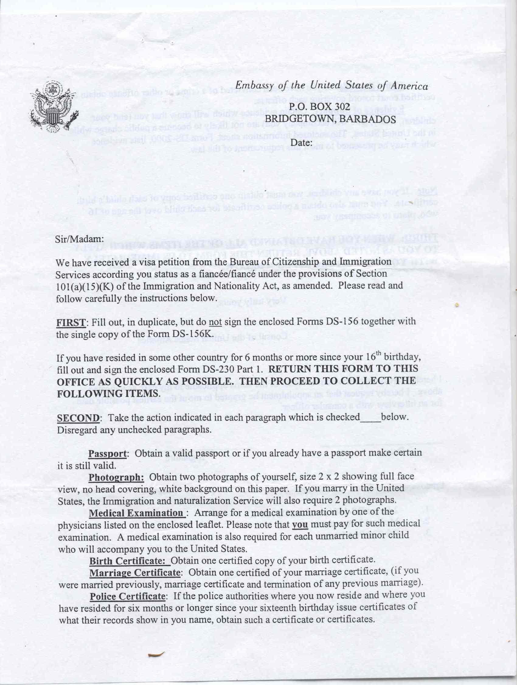 Question Ds 157 K 1 Fiancee Visa Case Filing And Progress