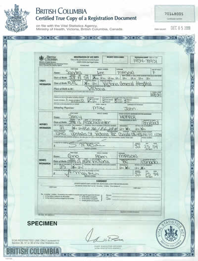 I-130: Ontario Marriage Certificate or Certified Copy of License ...