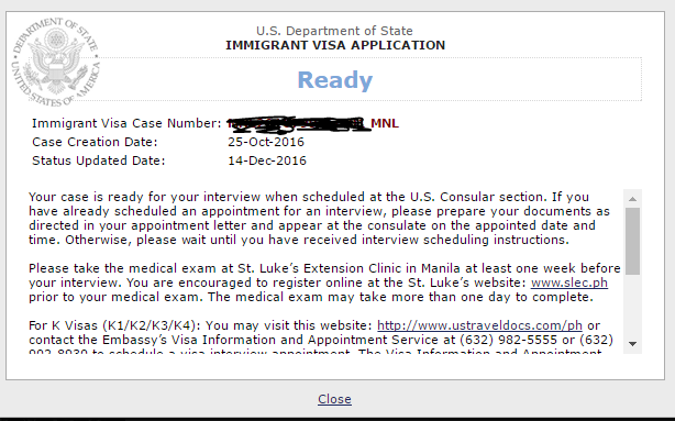 Ceac Status Still Says Ready For Interview One Week