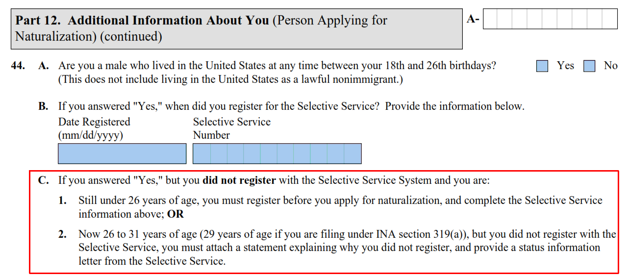 n 400 and selective service changes us citizenship general rh visajourney com fafsa selective service proof