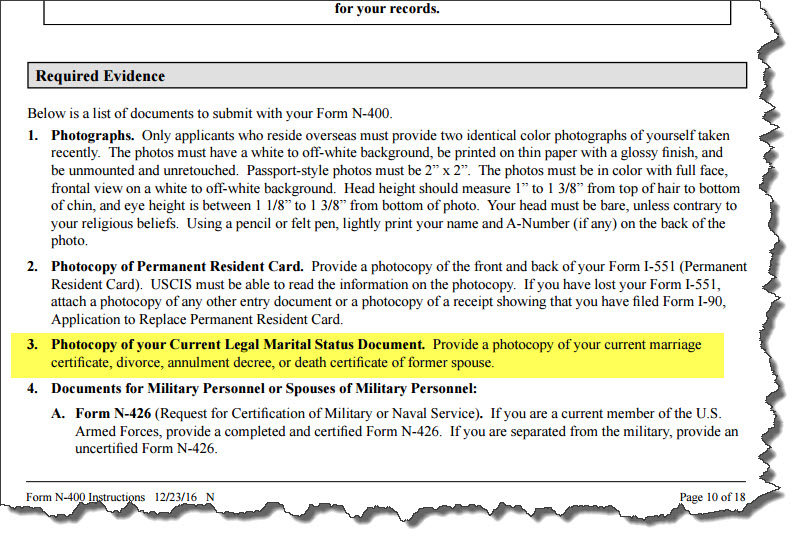N-400 Required Docs - US Citizenship General Discussion - VisaJourney