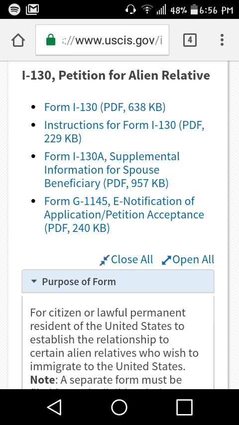 Help With Form I 130 Bringing Family Members Of Permanent