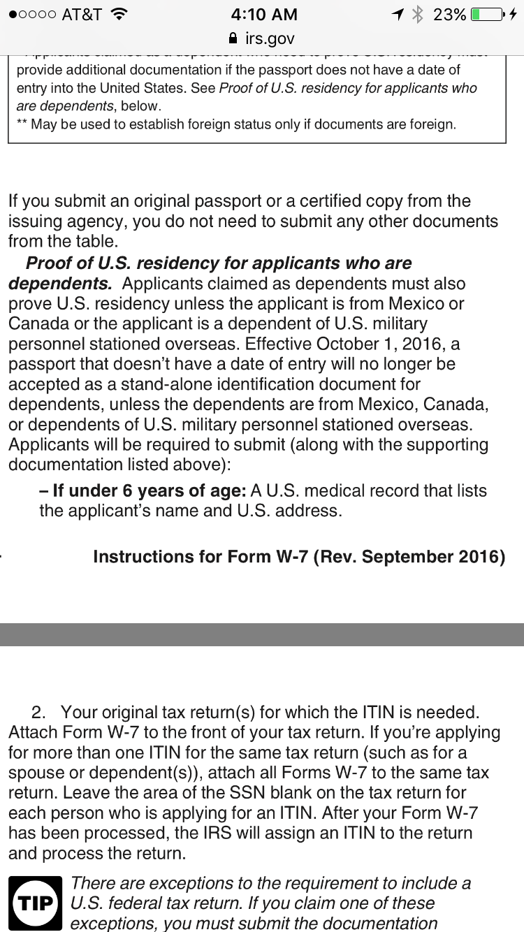 Tax itin help africa sub saharan visajourney this last year a certified copy is no longer accepted as a stand alone document thats my problem i have that i guess get another form of id and send falaconquin