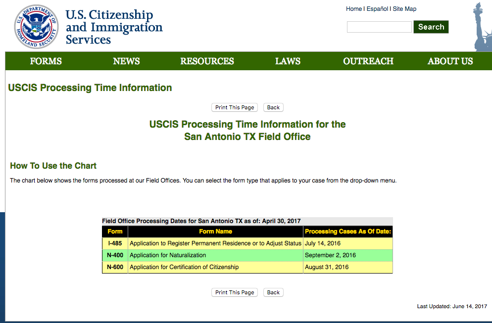 N 400 March 2017 Filers Page 70 Us Citizenship Case Filing And