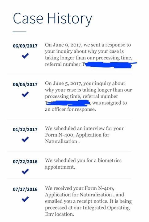 N 400 July 2016 Filers San Antonio Tx Us Citizenship Case Filing