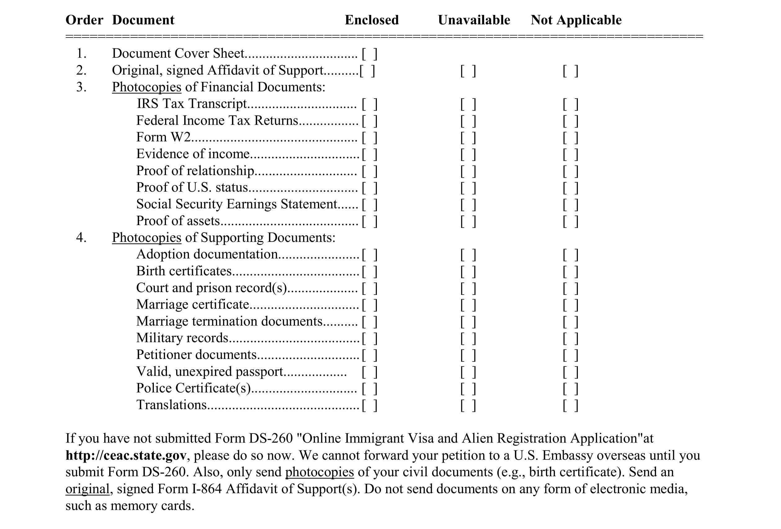 Documents for spouse visa ir1cr1 ir 1 cr 1 spouse visa process nvc checklist g falaconquin