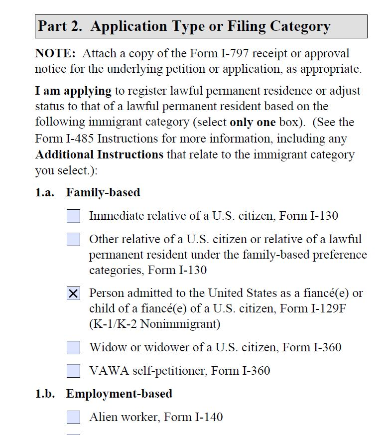 AOS from K1 used to be J1 - Adjustment of Status (Green Card) from ...
