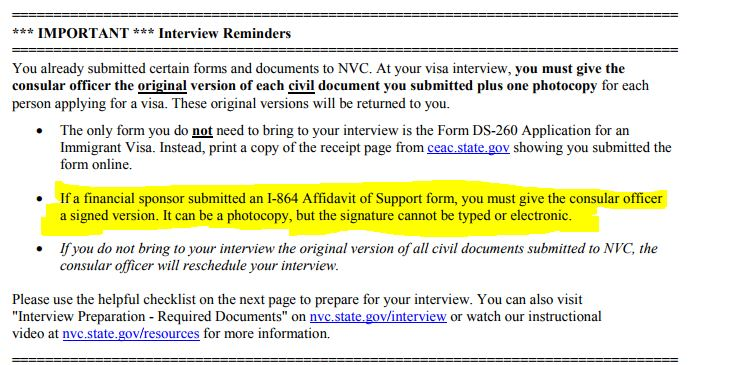 Copy Or Orginal To Interview Us Embassy And Consulate Discussion