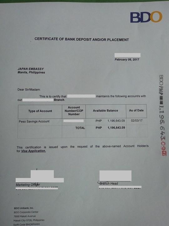 Bank Statement Sample Bdo