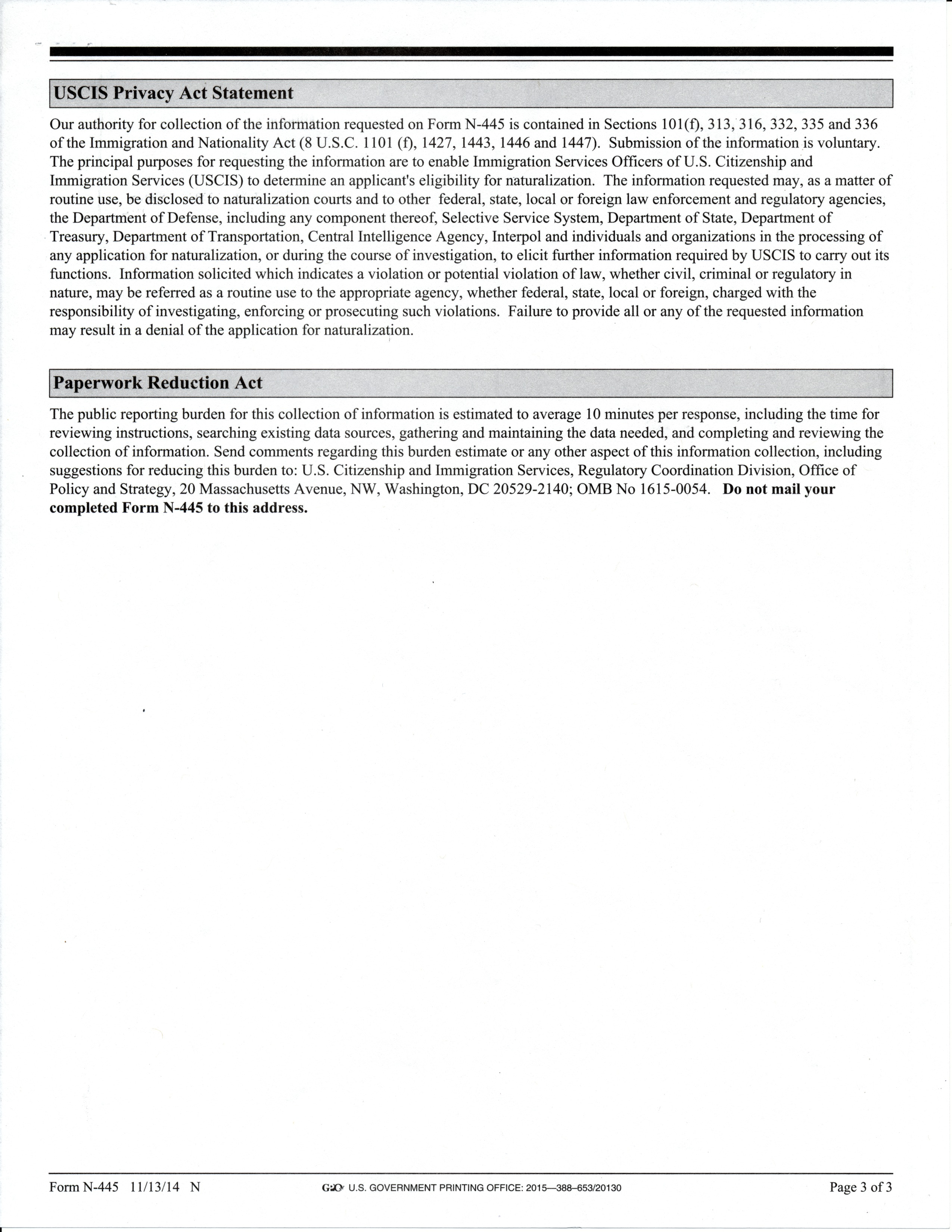 N 400 March 2017 Filers Page 134 Us Citizenship Case Filing