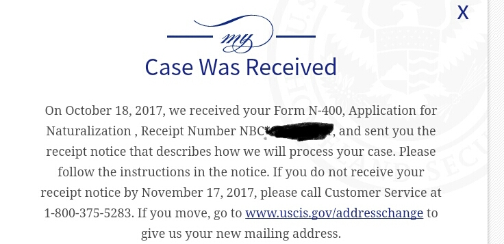 N 400 October 2017 Filers Page 9 Us Citizenship Case Filing And
