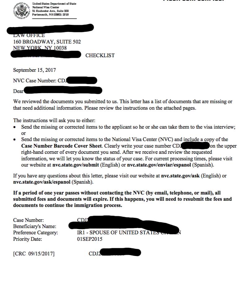 NVC checklist - Police Certificate HELP - Juarez - National