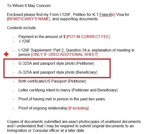 1 129f G325a Passport Style Photos K 1 Fiancee Visa Process