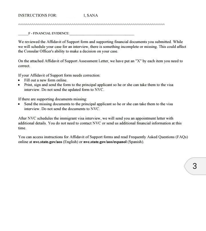 Nvc Letter Ir 1 Cr 1 Spouse Visa Process Procedures Visajourney