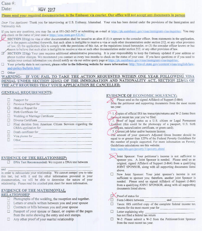 US Consulate Islamabad AP update - Page 27 - Waivers (I-601 and I