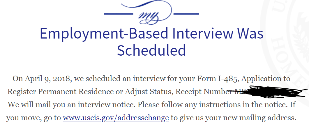 form i 485 interview was scheduled  February 9 AOS Filers - Page 9 - Adjustment of Status ...