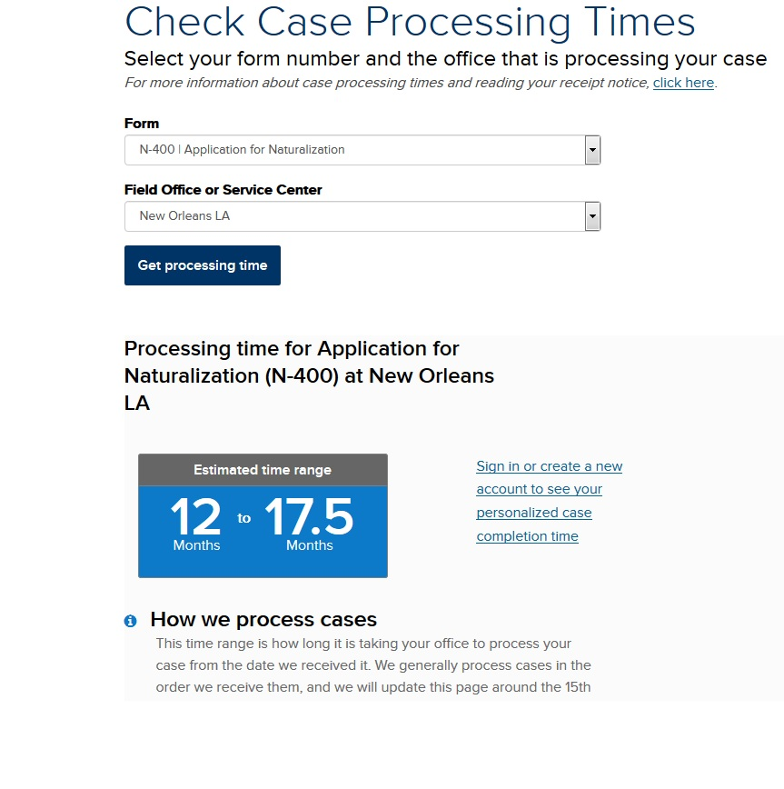 N-400 May 2018 Filers - US Citizenship Case Filing and