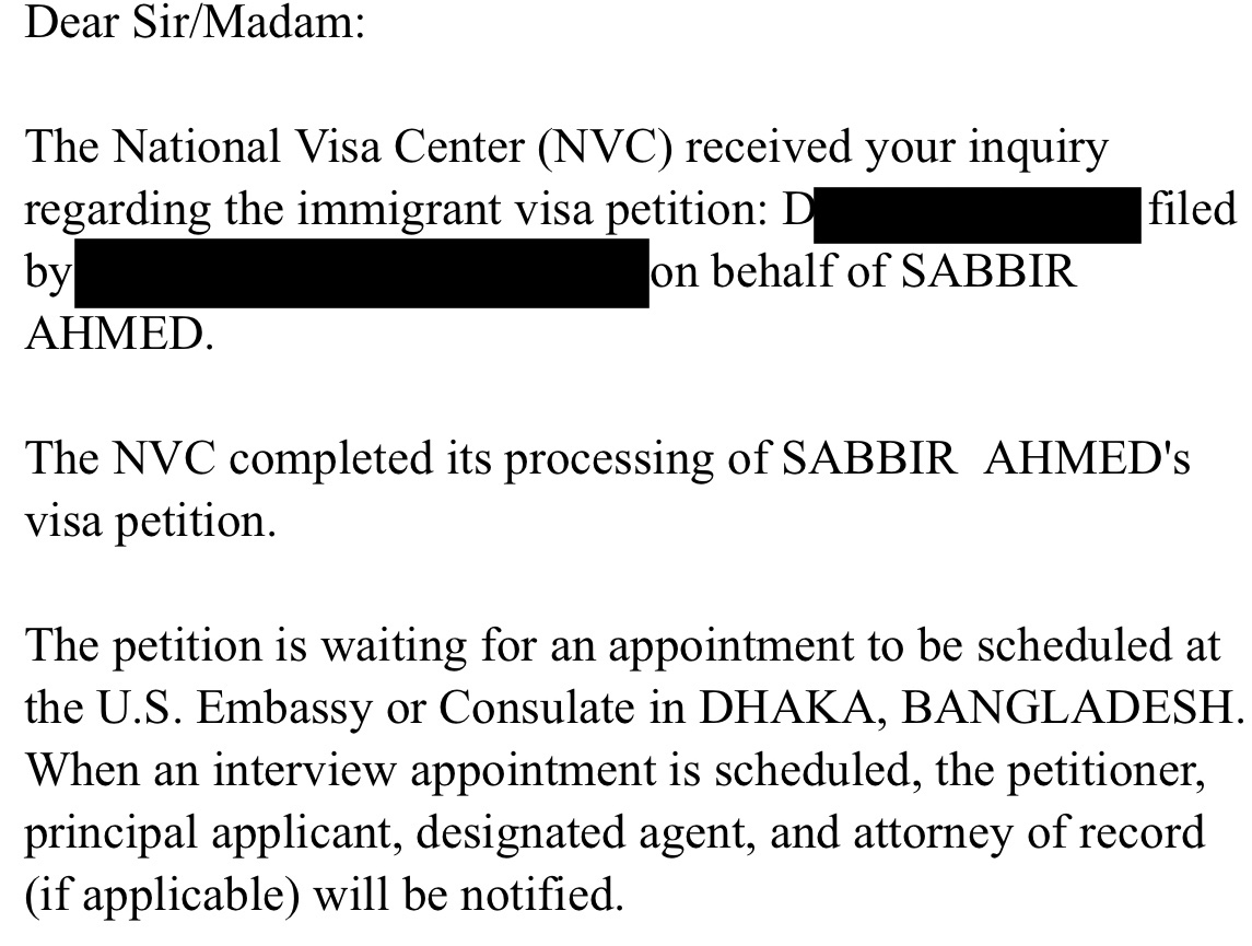 No Interview Letter yet - Asia: South - VisaJourney