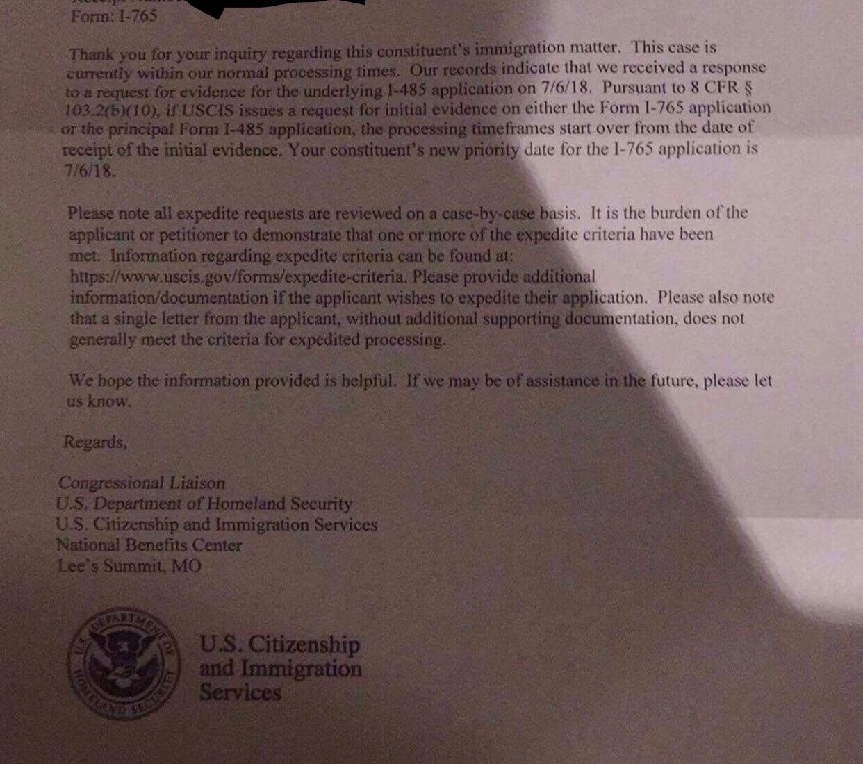 RFIE after 6 months still no EAD  USCIS respond to say clock
