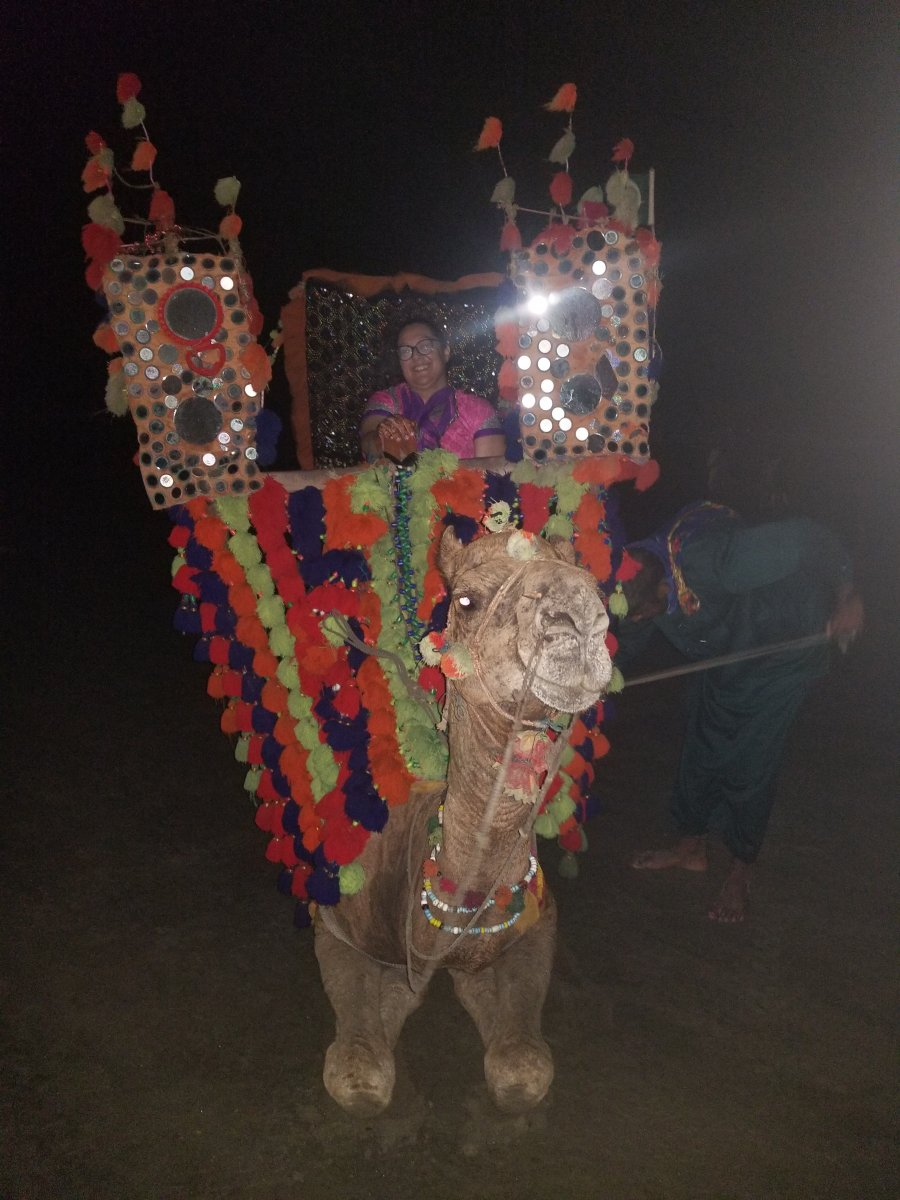 My first camel ride at Seaview Karachi