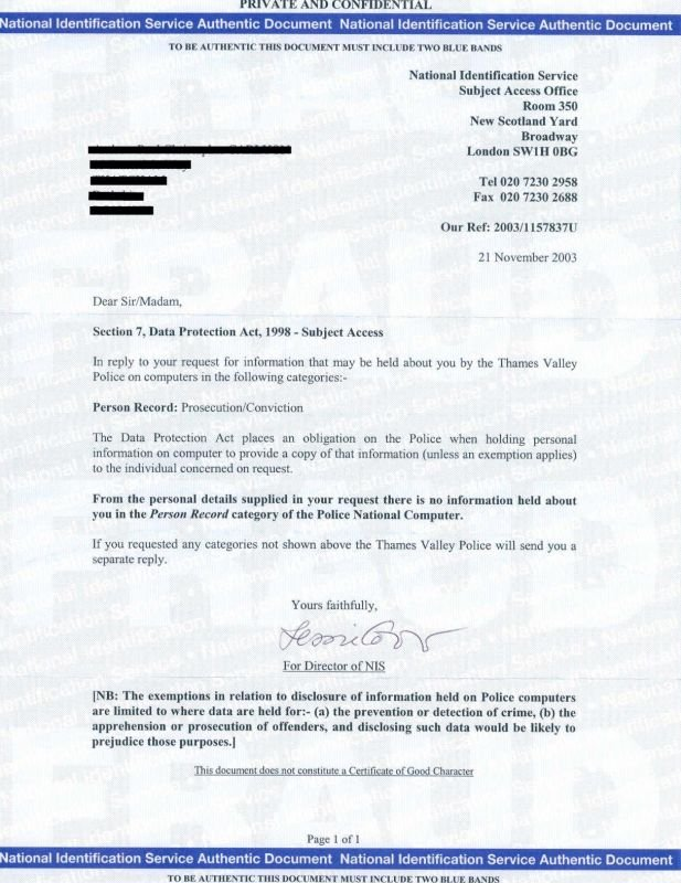 police certificate 3