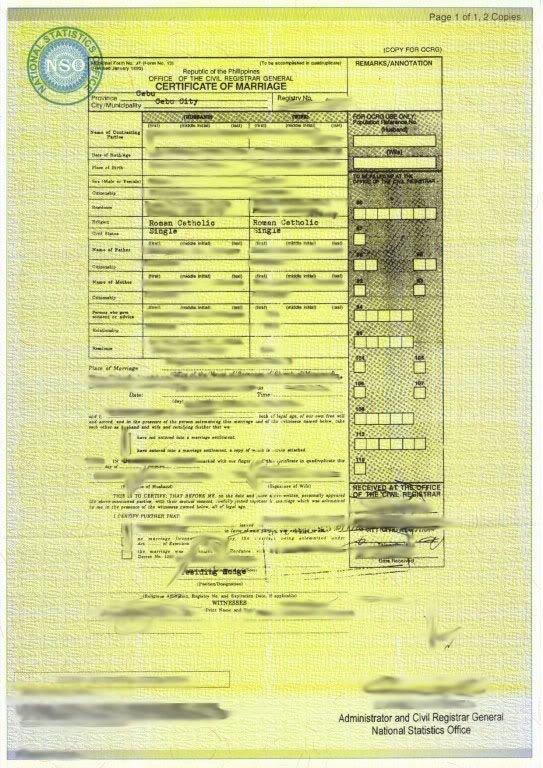 Philippines nso marriage certificate philippines packets visajourney philippines nso marriage certificate altavistaventures Images