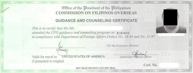Philippines CFO Green Copy Sample