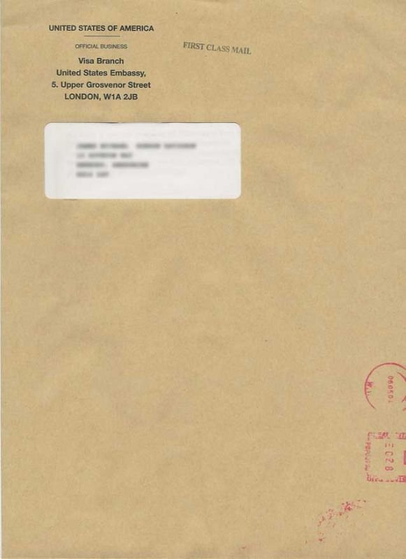 Packet 4 London Envelope