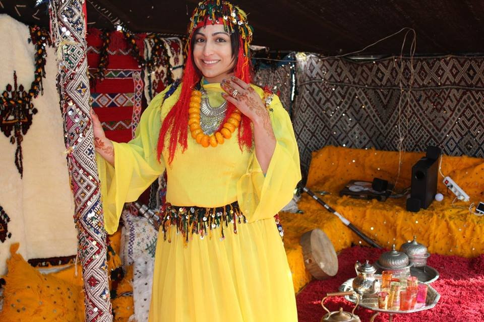 Playing dress up Berber costume