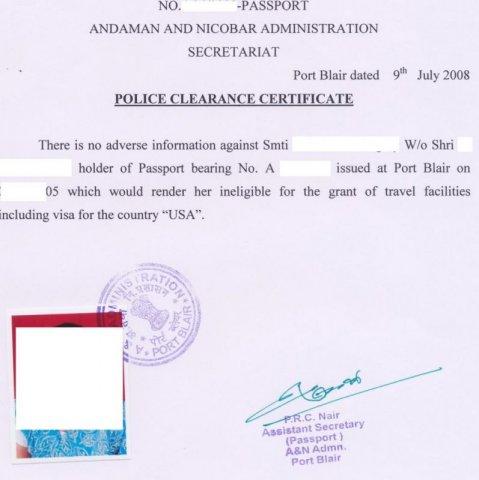police certificate 2