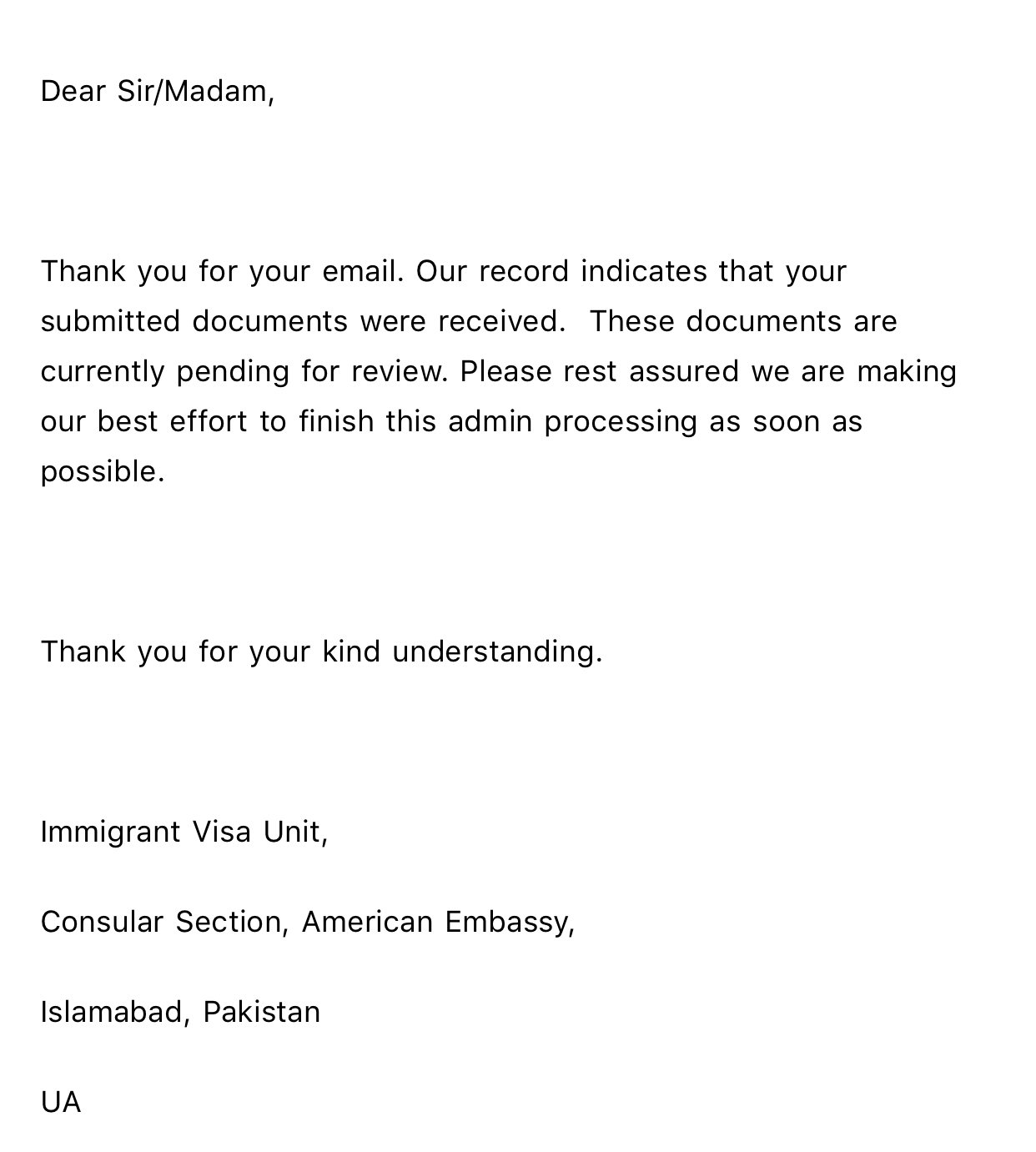 Us Embassy Islamabad Email