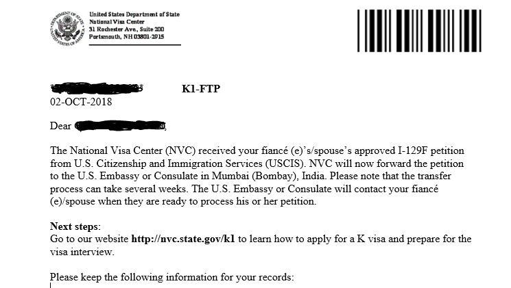 K1 Ftp K 1 Fiance E Visa Case Filing And Progress Reports