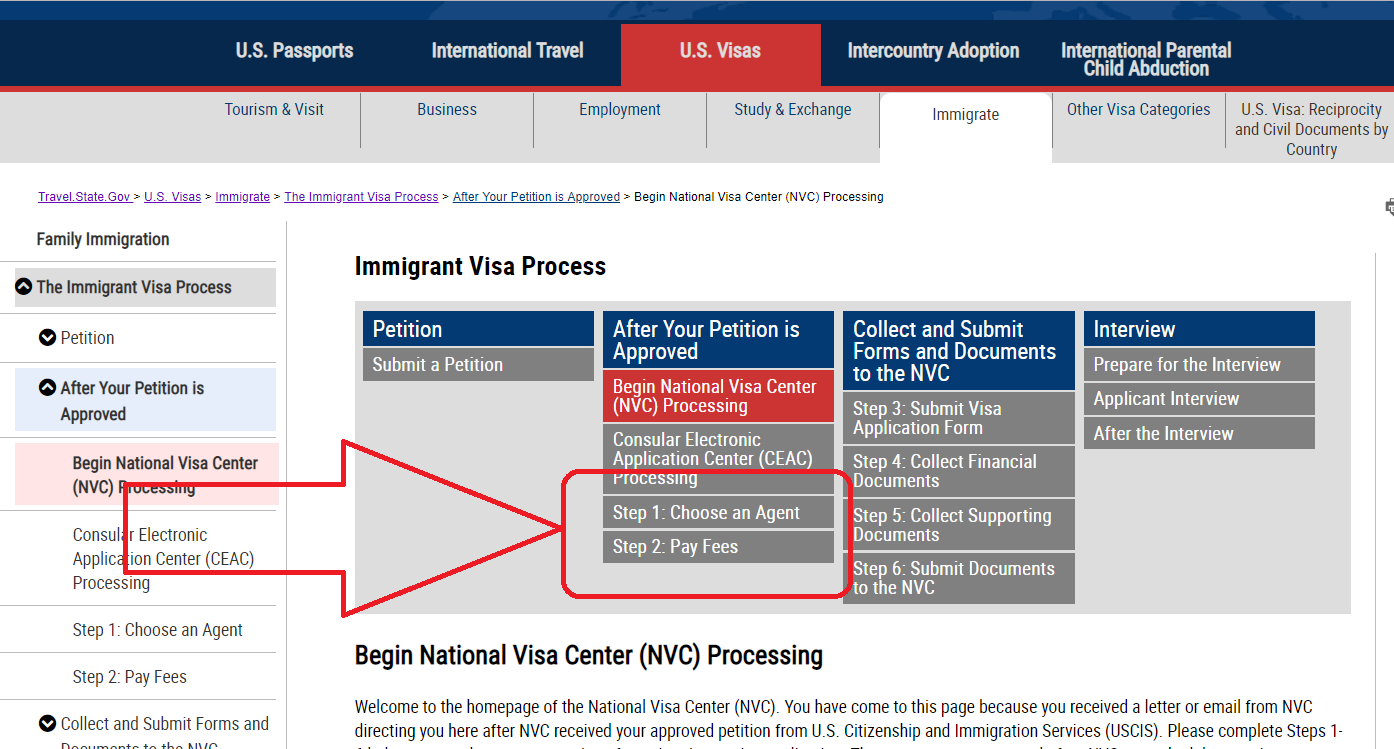 CEAC is confusing us - National Visa Center (Dept of State