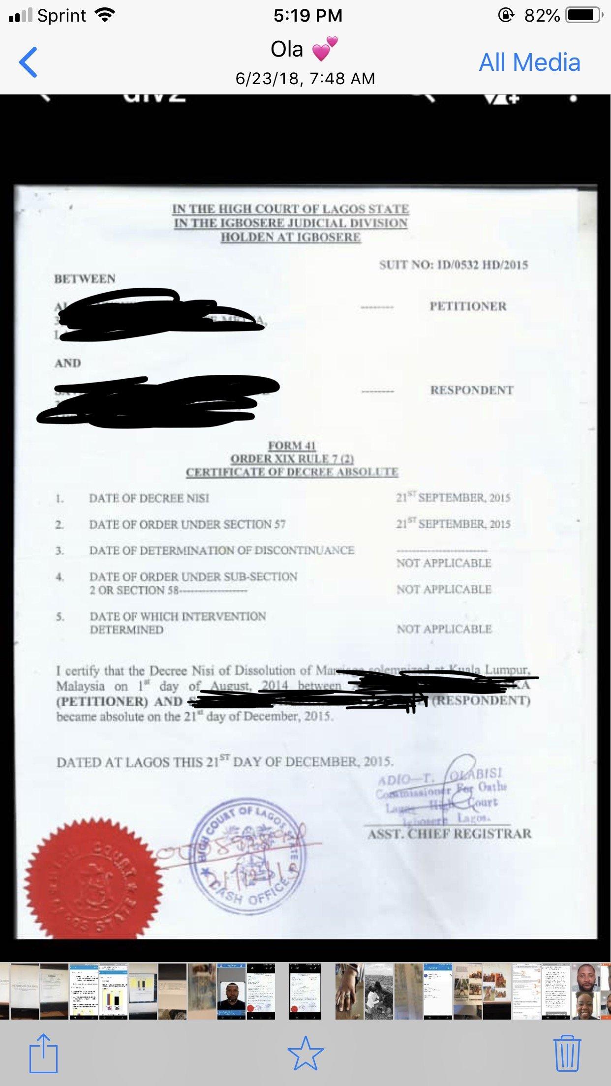 divorce decree not excepted