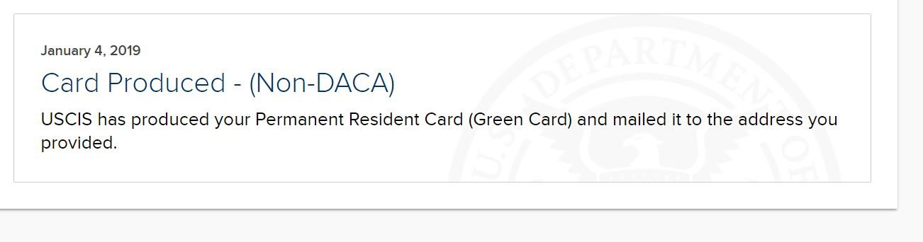 I-551 Green Card Not Received Over 120Days - General