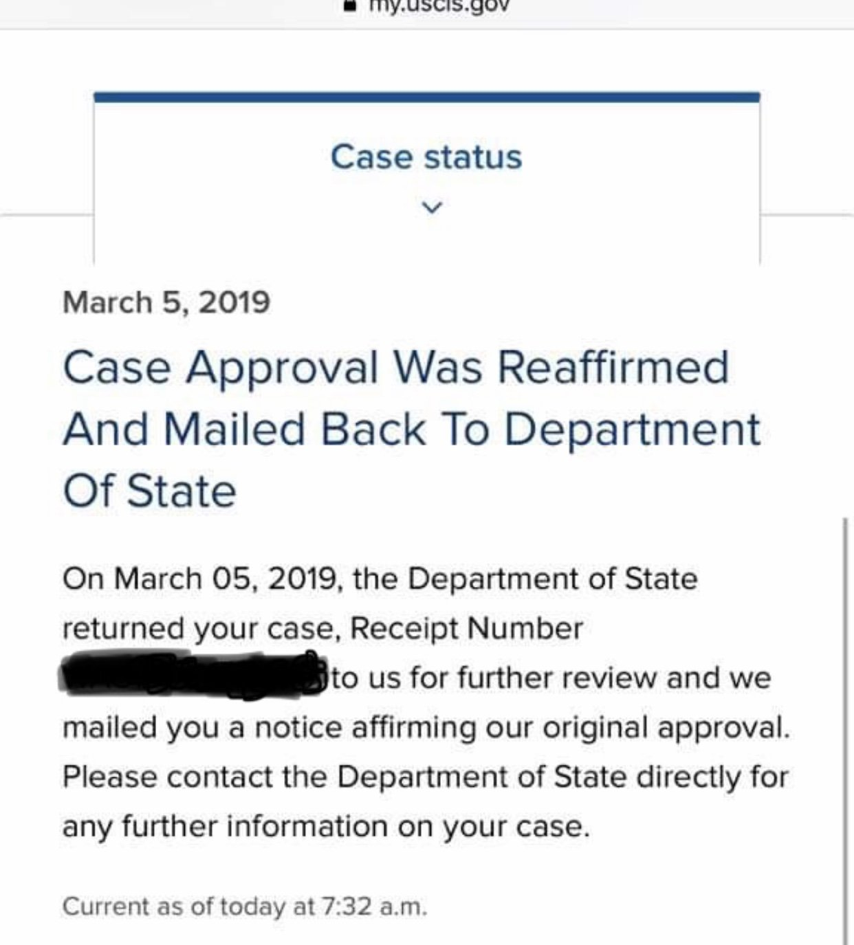 Approved Case being sent back to USCIS - K-1 Fiance(e) Visa