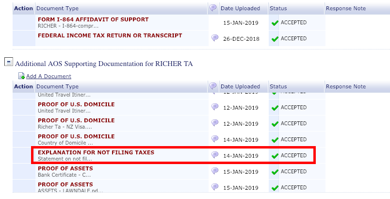 Submitted explanation for not filing taxes but NVC asking