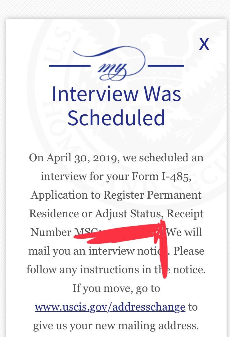 form i 485 interview was scheduled  Interview was scheduled ( after 9 months ) - Adjustment of ...