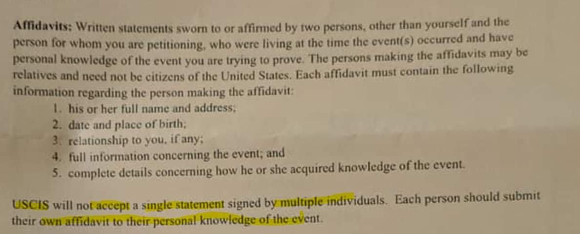 affidavit of support letter for visa  letter of support
